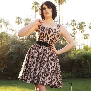 Pinup Girl Clothing Lana leopard canvas ALTERED